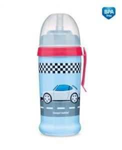 CANPOL BABIES Bidon niekapek - Racing 350 ml 12 m+ car