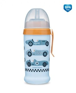CANPOL BABIES Bidon niekapek - Racing 350 ml 12 m+ cars